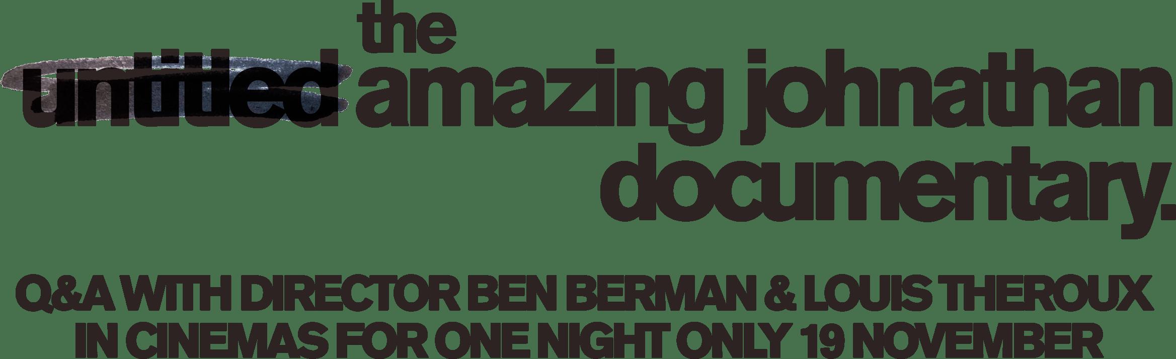 The Amazing Johnathan Documentary : %$SYNOPSIS% | Dogwoof