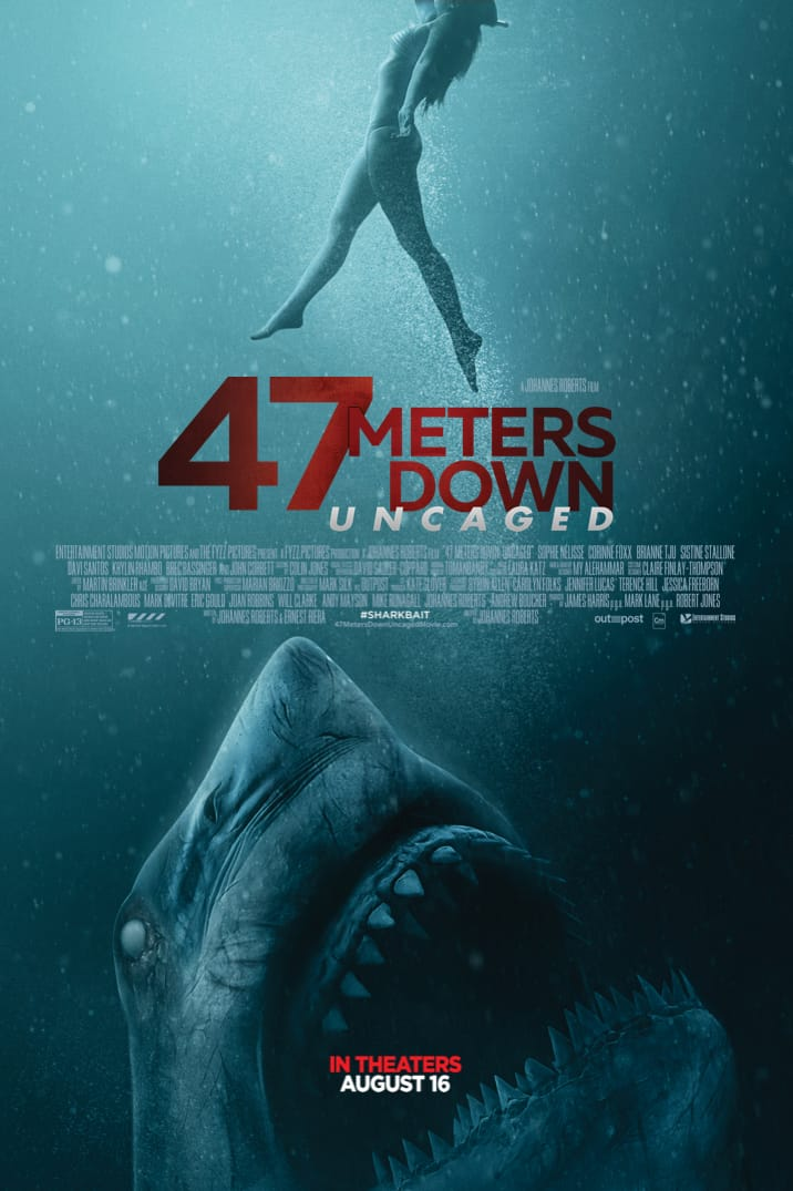 Poster for 47 Meters Down Uncaged