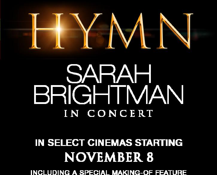 Hymn - Sarah Brightman In Concert : Synopsis   Fathom Events