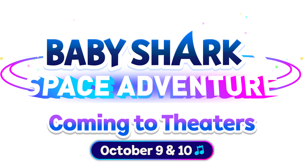 Title or logo for Pinkfong & Babyshark's Space Adventure
