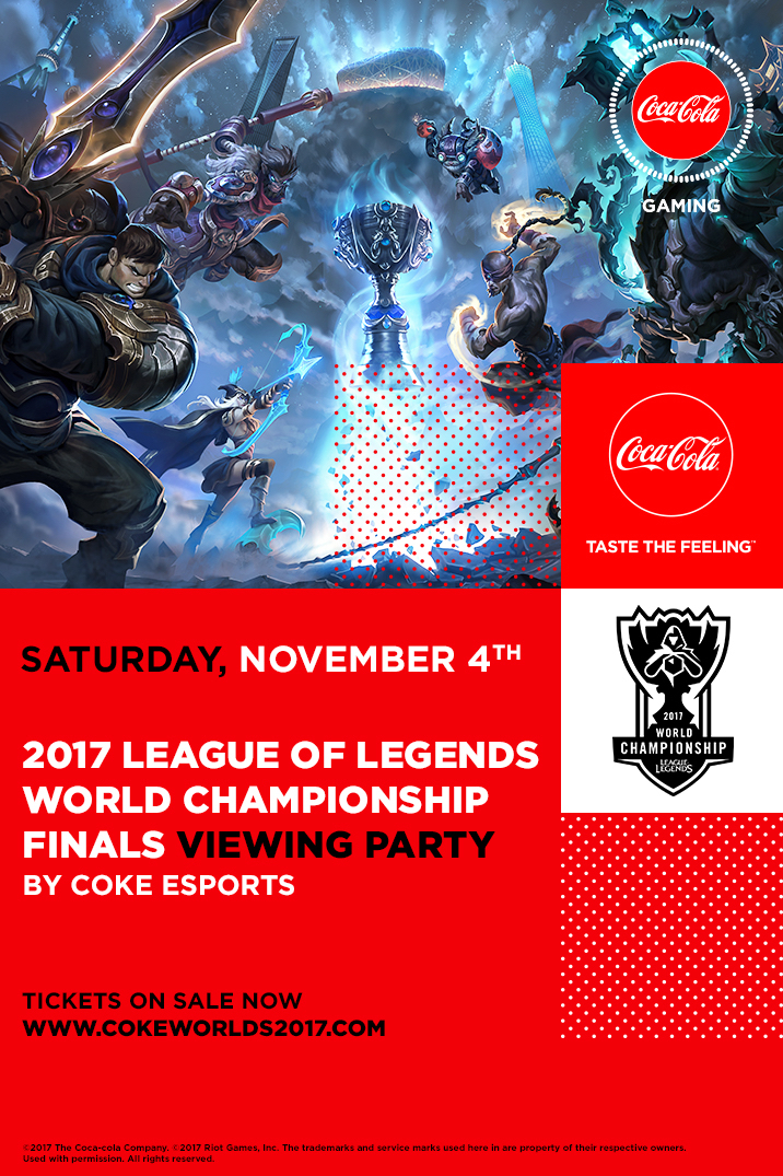 2017 League of Legends World Championship Finals Viewing Party by Coke Esports