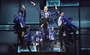 Jamie New (John McCrea) and Year 11 classmates in Everybody's Talking About Jamie.