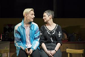 Jamie New (John McCrea) and his mum Margaret (Josie Walker) in Everybody's Talking About Jamie.
