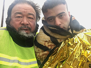 Director Ai Weiwei in HUMAN FLOW, an Amazon Studios release. Photo Courtesy of Amazon Studios.
