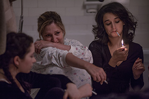 Abby Quinn, Edie Falco, and Jenny Slate in LANDLINE, an Amazon Studios release. Photo courtesy of Amazon Studios.