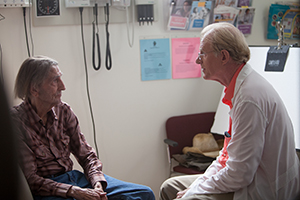 Harry Dean Stanton and Ed Begley Jr. in LUCKY, a Magnolia Pictures release. Photo courtesy of Magnolia Pictures.
