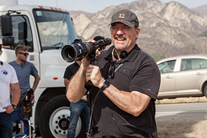 Director John Carroll Lynch on the set of LUCKY, a Magnolia Pictures release. Photo courtesy of Magnolia Pictures.