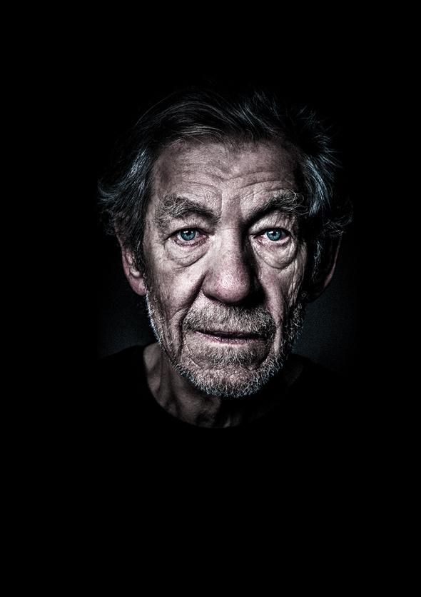 Show image of Ian McKellan as King Lear.