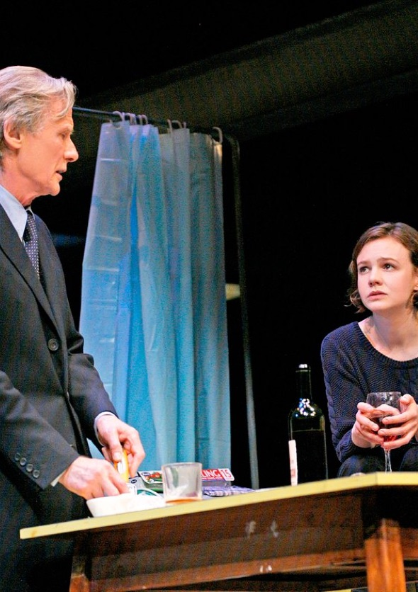 Skylight production image featuring Carey Mulligan and Bill Nighy