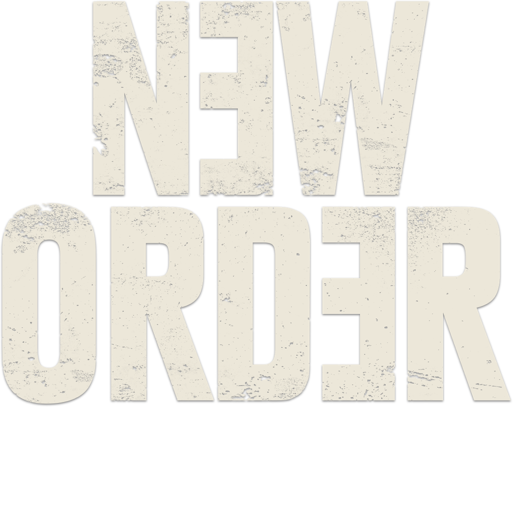 Title or logo for New Order