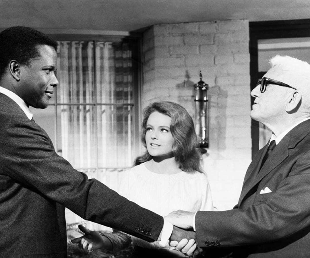 Sidney Poitier, Katharine Houghton, and Spencer Tracy in Guess Who's Coming to Dinner