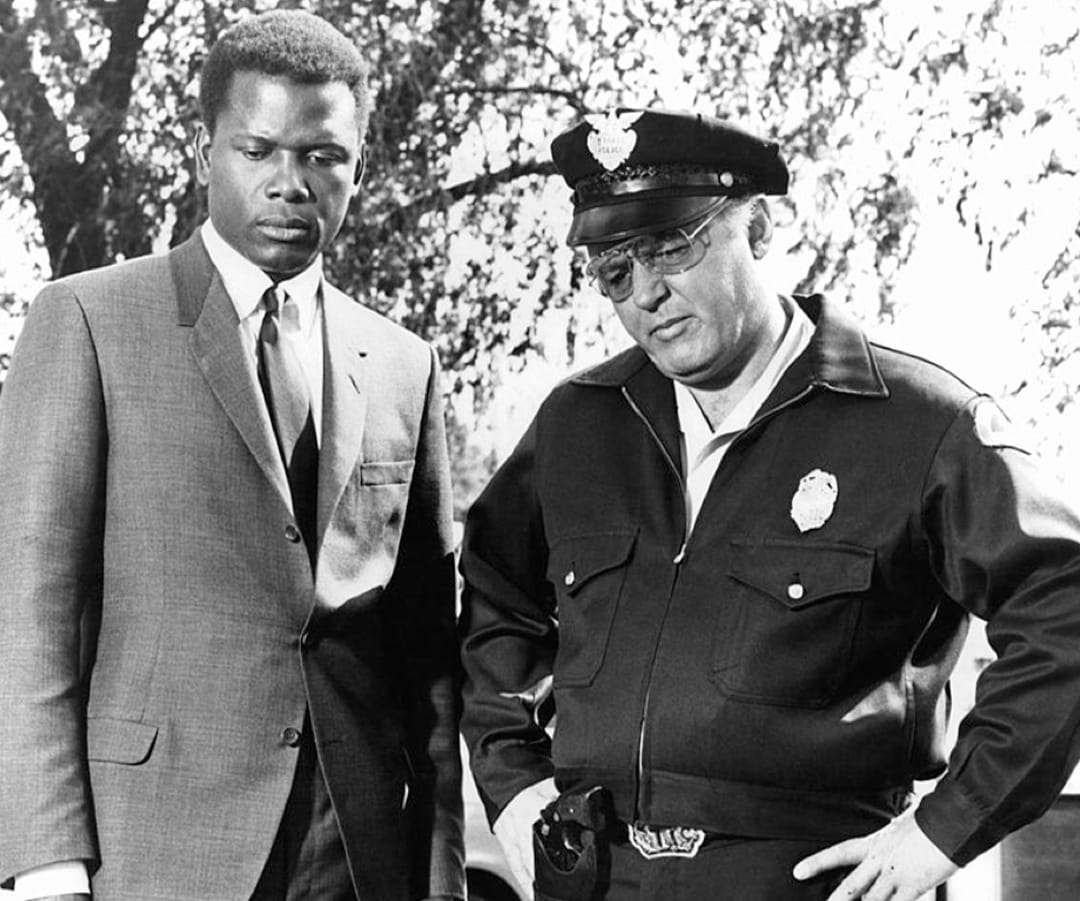 Sidney Poitier and Rod Steiger in In the Heat of the Night