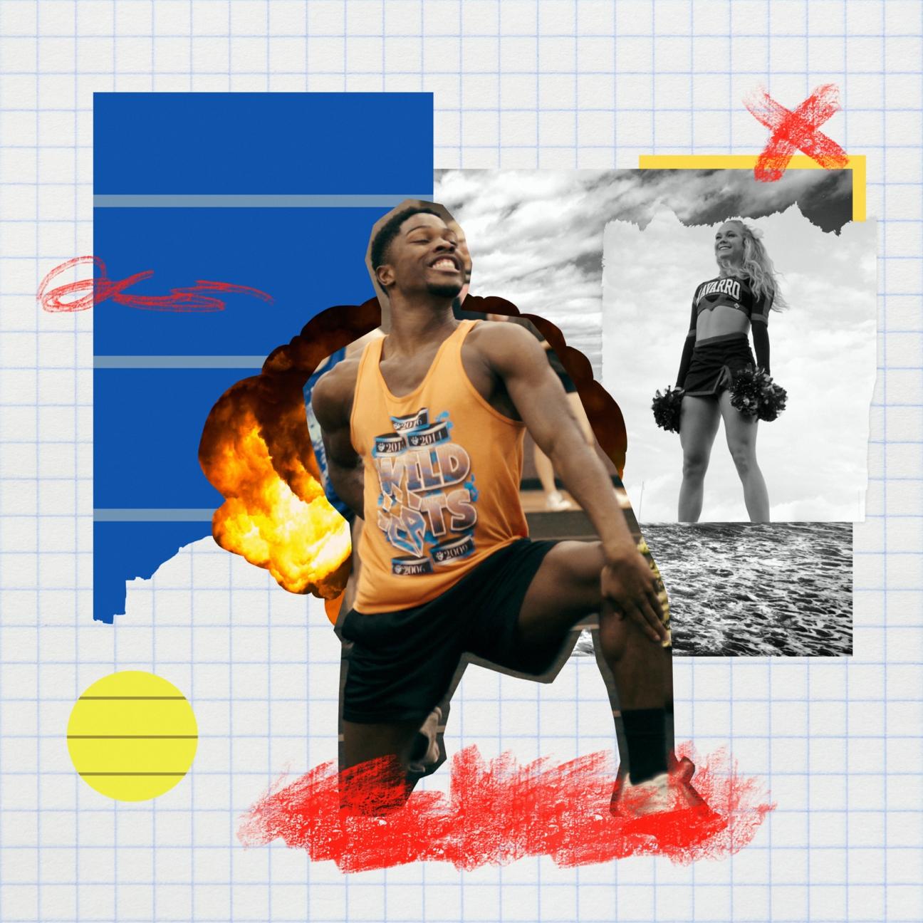 La'Darius Marshall of the Navarro cheerleading program