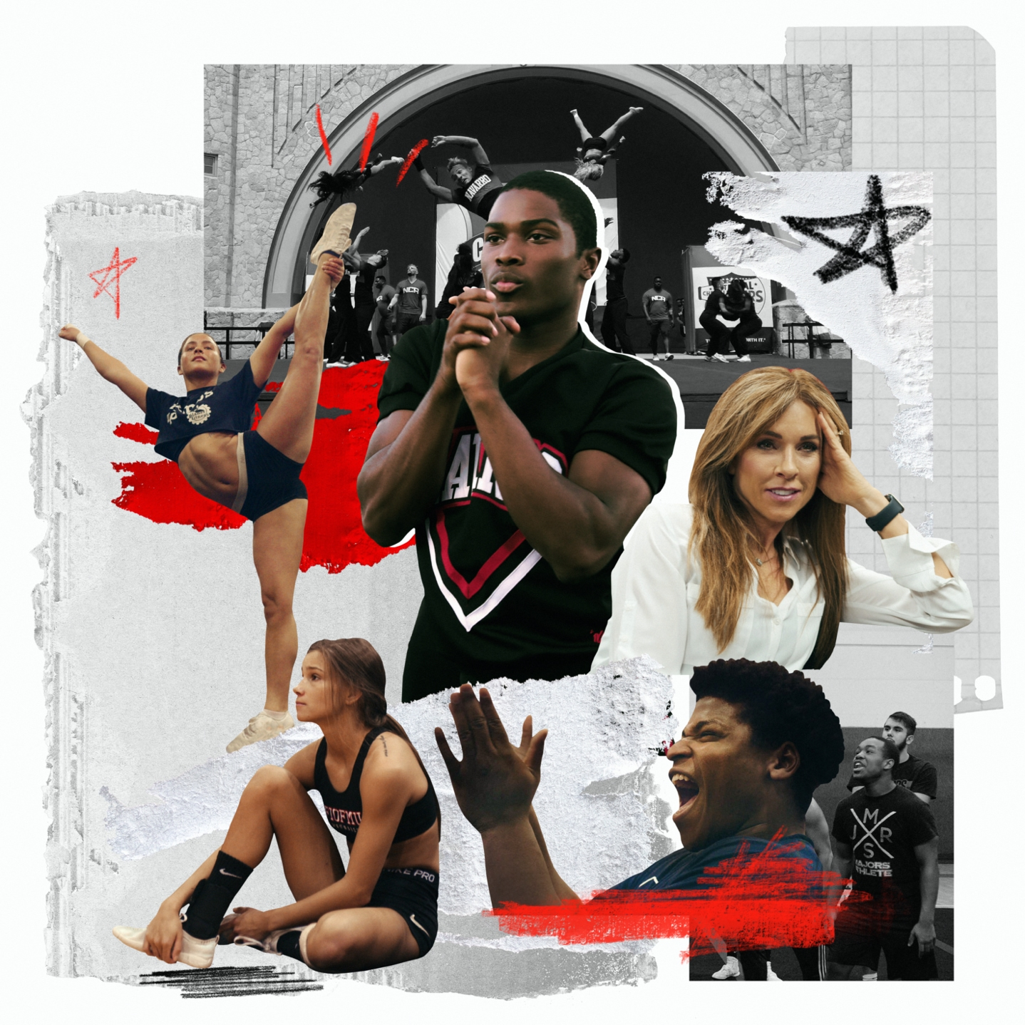 The stars of the documentary series Cheer