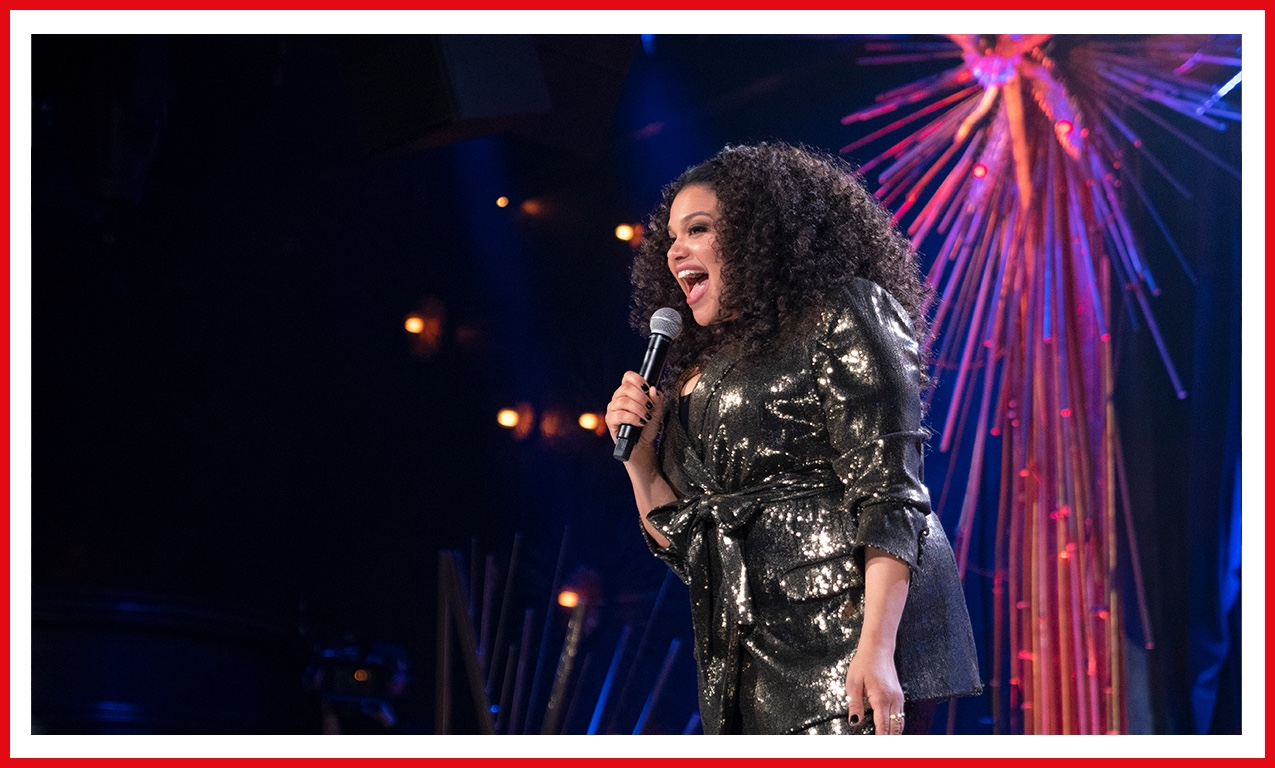 Michelle Buteau is a glittering success in her special Welcome to Buteaupia. And her dress literally sparkles.