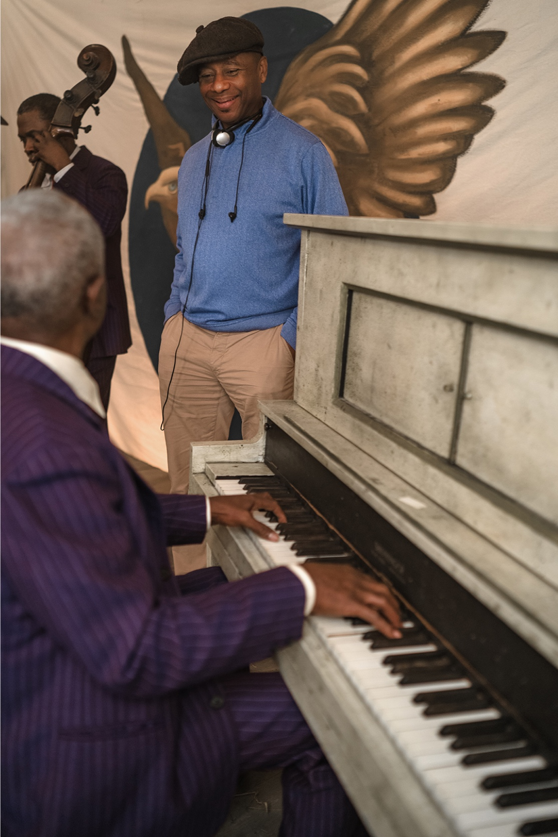 Branford Marsalis hobnobs with Ma Rainey's band. Just another day for a jazz legend.