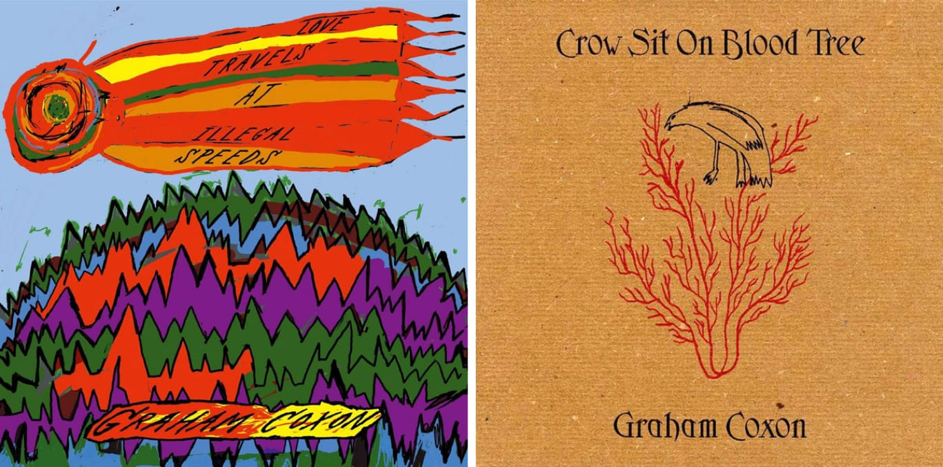 Love Travels at Illegal Speeds and Crow Sit on Blood Tree, solo albums by Graham Coxon