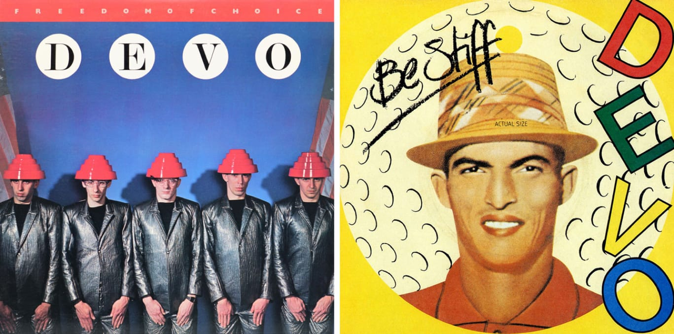 Devo albums Freedom of Choice and Q: Are We Not Men? A: We Are Devo!