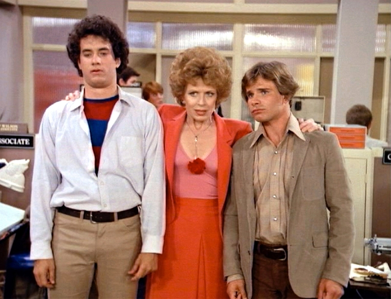 Tom Hanks, Holland Taylor, and Peter Scolari in Bosom Buddies