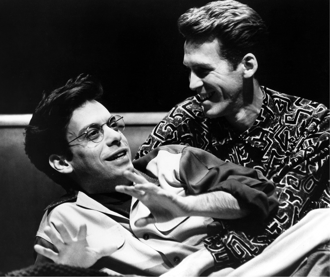 Joe Mantello and Stephen Spinella in Angels in America