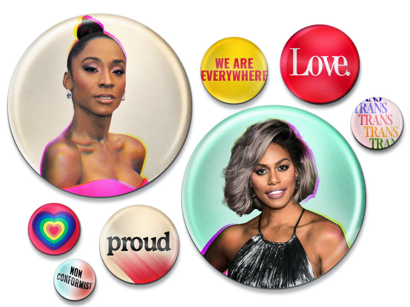 Angelica Ross and Laverne Cox
