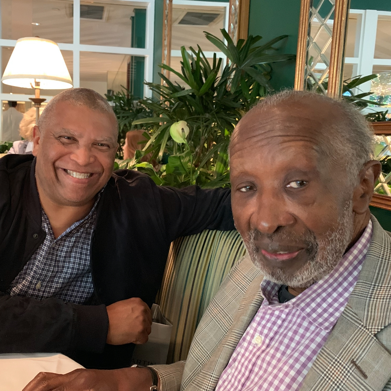 "Reginald Hudlin with ""The Black Godfather"" Clarence Avant"