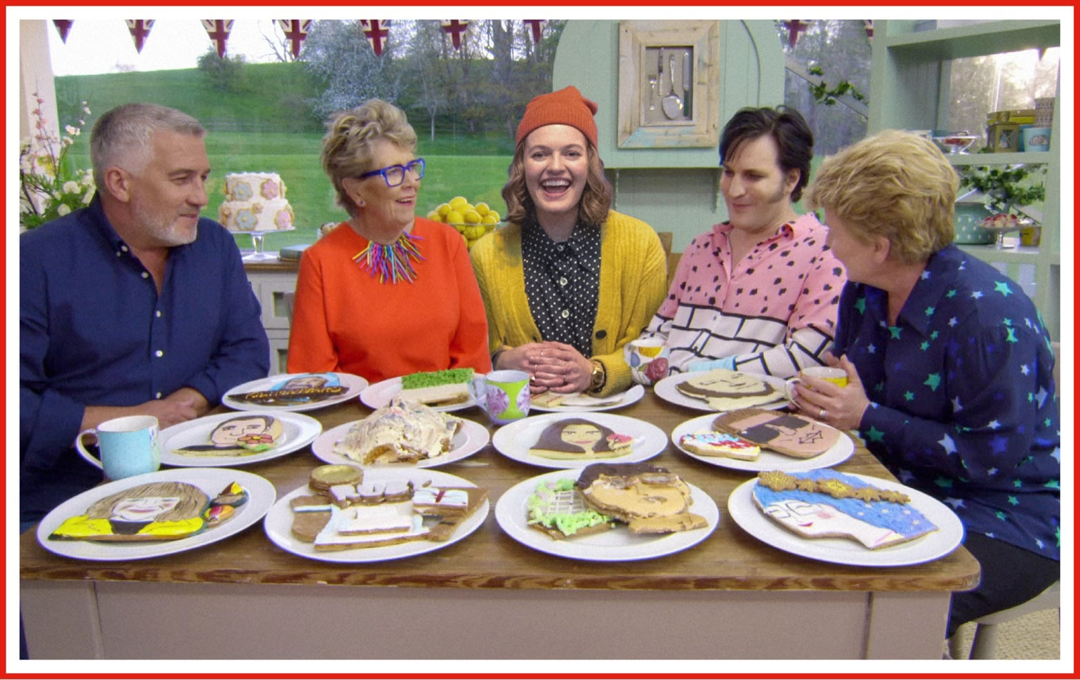 Jo Ellen Pellman as Emma from The Prom makes an imagined cameo in one of her favorite series this year, The Great British Baking Show.