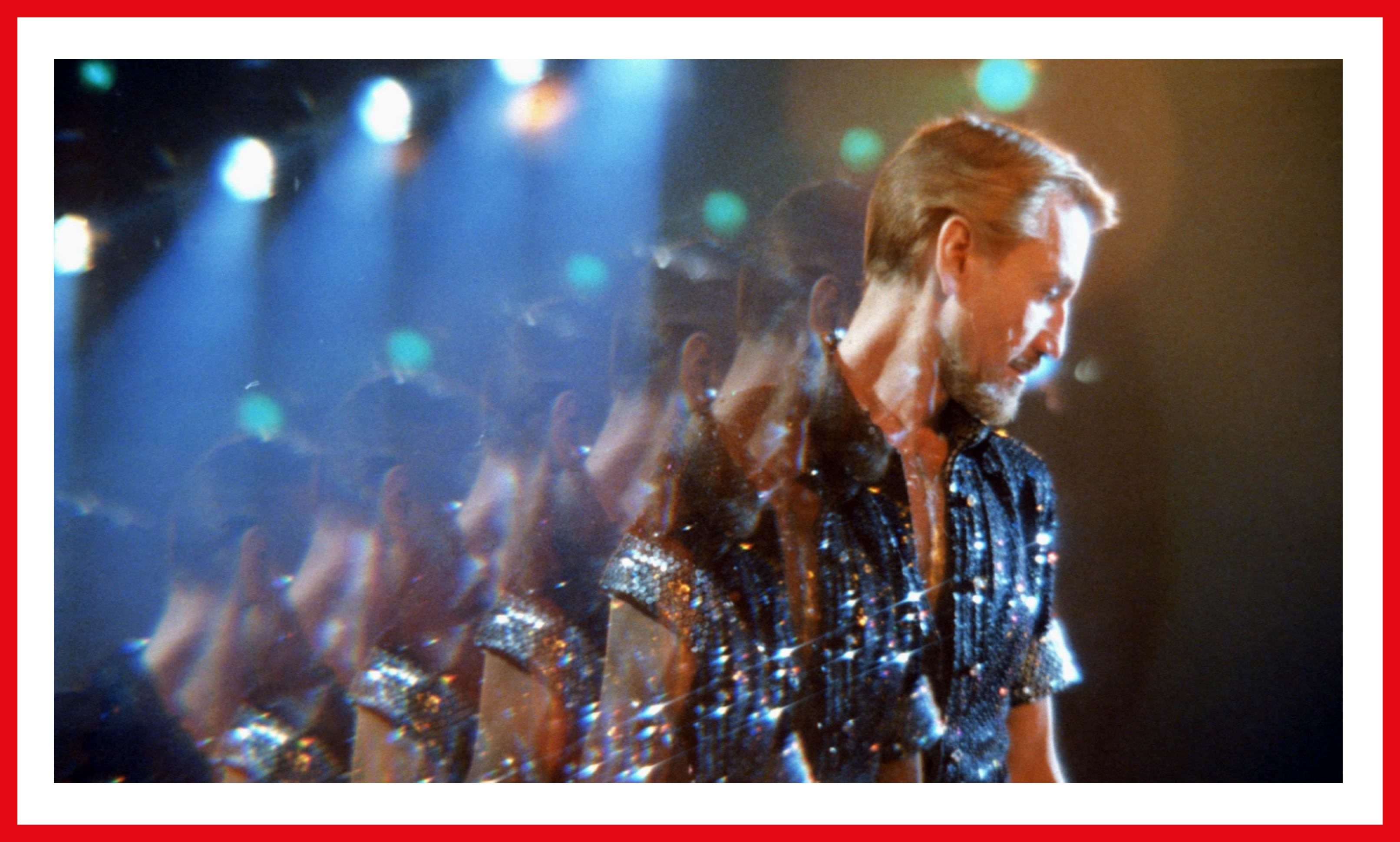 Scheider sparkles as Joe Gideon, with slicked back blonde hair and a glittering shirt