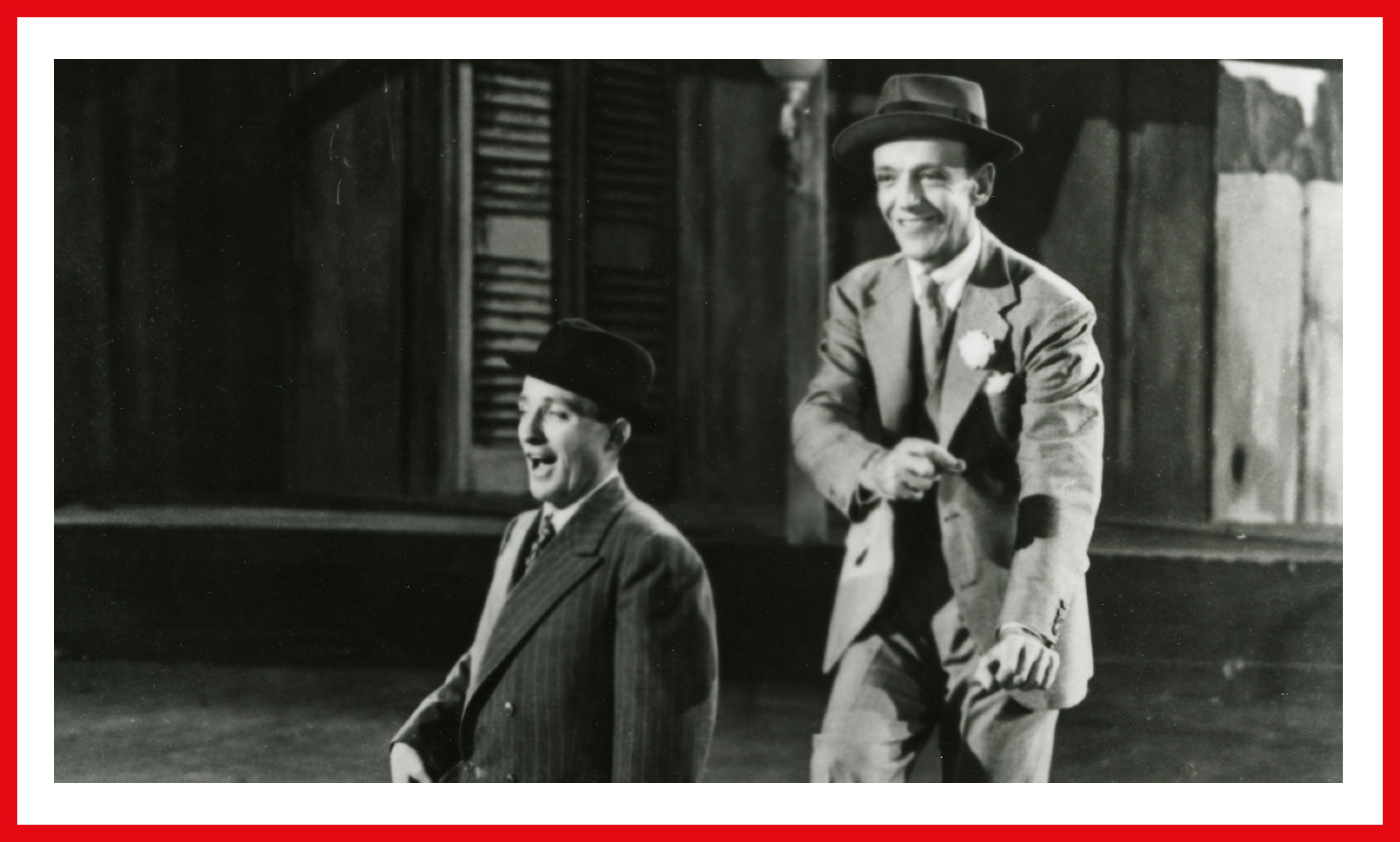 Crosby and Astaire ready to dance.