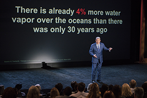 Al Gore giving his updated presentation in Houston, TX in An Inconvenient Sequel: Truth To Power from Paramount Pictures and Participant Media. Photo Credit: Jensen Walker