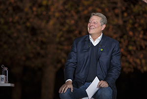 Al Gore in Paris, France for '24 Hours of Climate Reality' in An Inconvenient Sequel: Truth to Power from PARAMOUNT PICTURES and PARTICIPANT MEDIA. Photo Credit: Jensen Walker