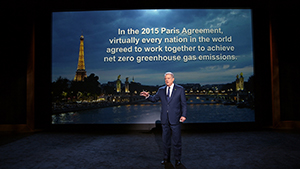 Al Gore giving his updated presentation in Houston, TX in An Inconvenient Sequel: Truth To Power from Paramount Pictures and Participant Media. Photo Credit: Paramount Pictures and Participant Media