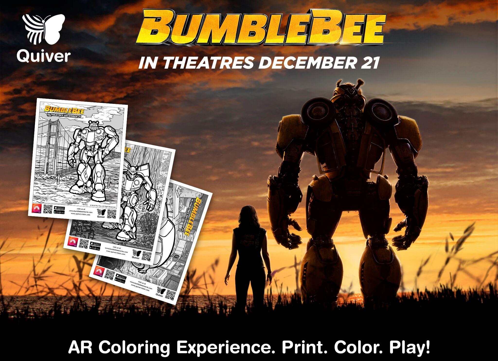 Bumblebee AR Coloring