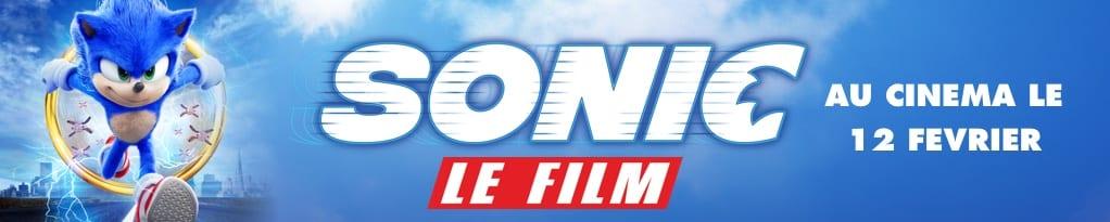 Bannière du film Sonic Le Film