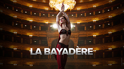 **LA BAYADÈRE**  The temple dancer Nikiya and the warrior Solor fall deeply in love, giving way to heated passions, and murderous intrigues when the Rajah and his daughter Gamzatti discover their forbidden love.  La Bayadere is one of the greatest works classical ballet history – A must-see!