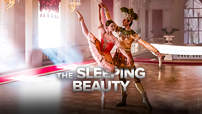 "**THE SLEEPING BEAUTY**  The Princess Aurora falls  under the curse of the Evil Fairy Carabosse on her sixtenth birthday, falling  into a deep slumber of one hundred years. Only the kiss of a prince could break the spell. A resplendent fairytale ballet perfomed Olga Smirnova, a ""truly extraordinary talent"" (The Telegraph)."
