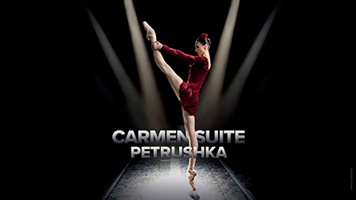 **CARMEN SUITE/PETRUSHKA**  Carmen is as passionate and free-spirited as ever as she finds herself caught in a love triangle.  The new creation by Edward Clug, Petrushka, encapsulates the soul of Russian Ballet.