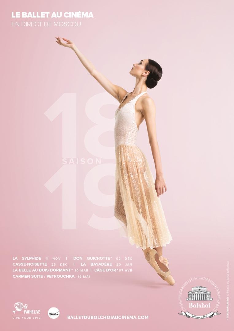 Poster for Le Ballet du Bolchoï au cinéma
