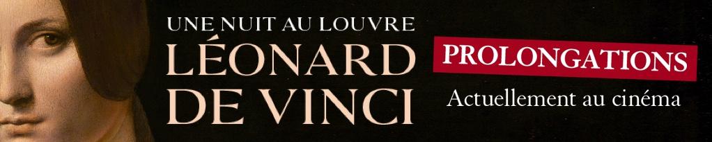 Bannière du film Une nuit au Louvre: Léonard de Vinci