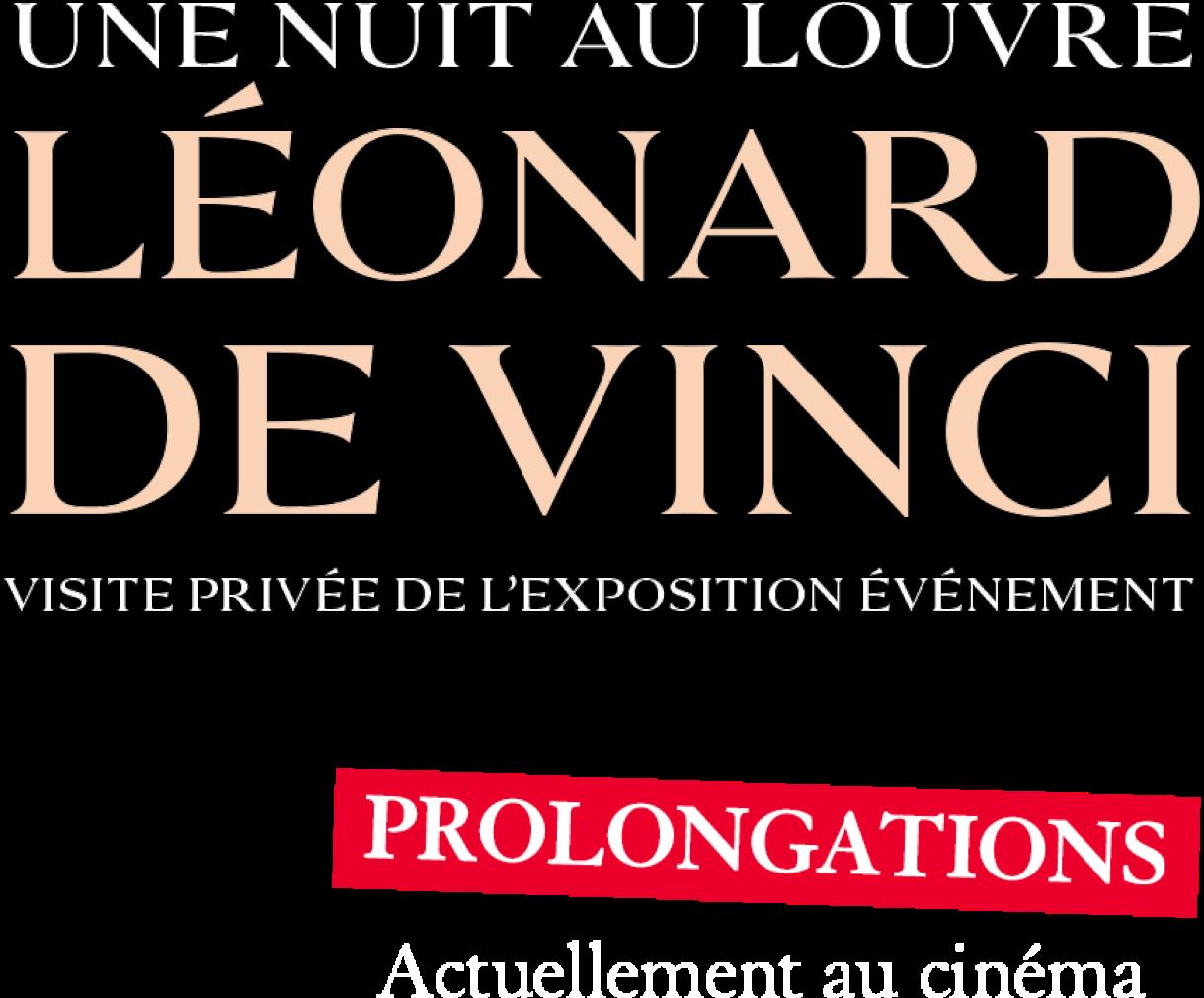 Logo titre pour Une nuit au Louvre: Léonard de Vinci