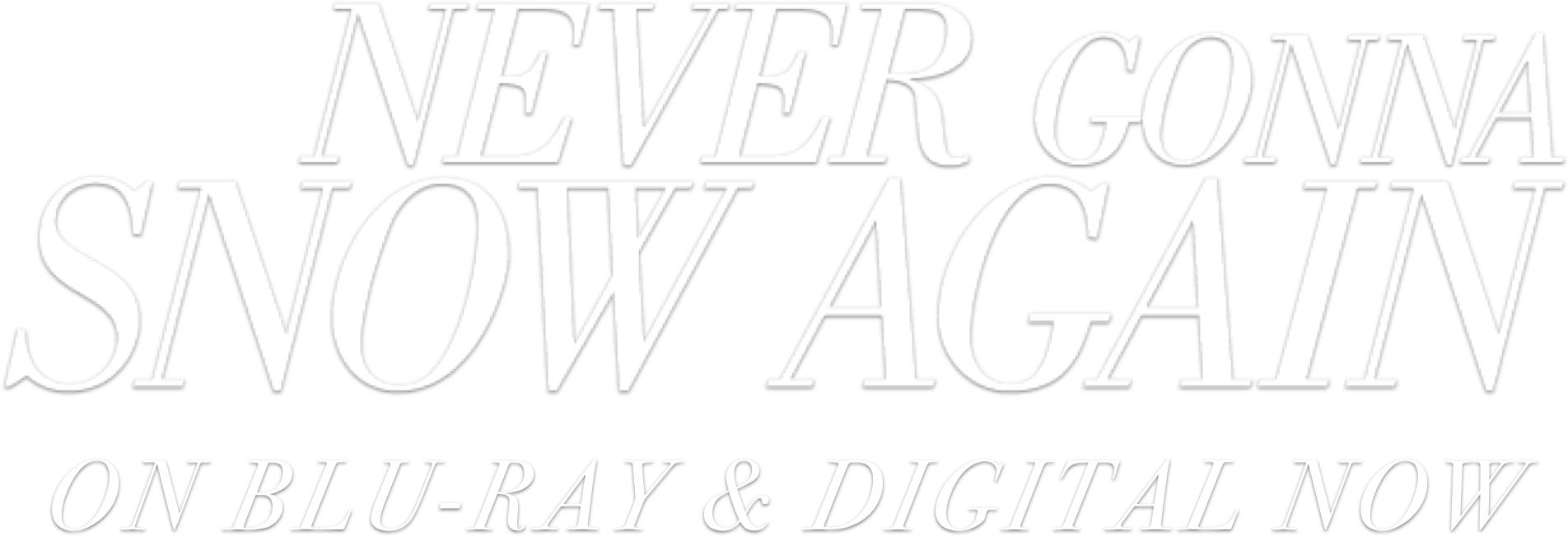 Title or logo for Never Gonna Snow Again