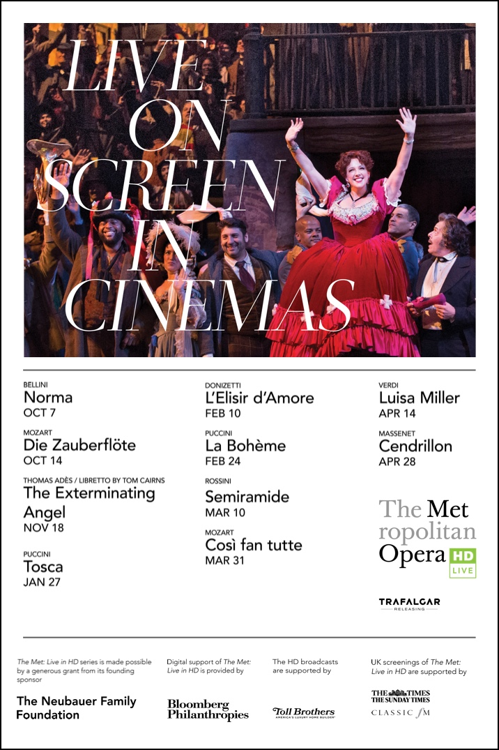 The Metropolitan Opera: Live on Screen in Cinemas