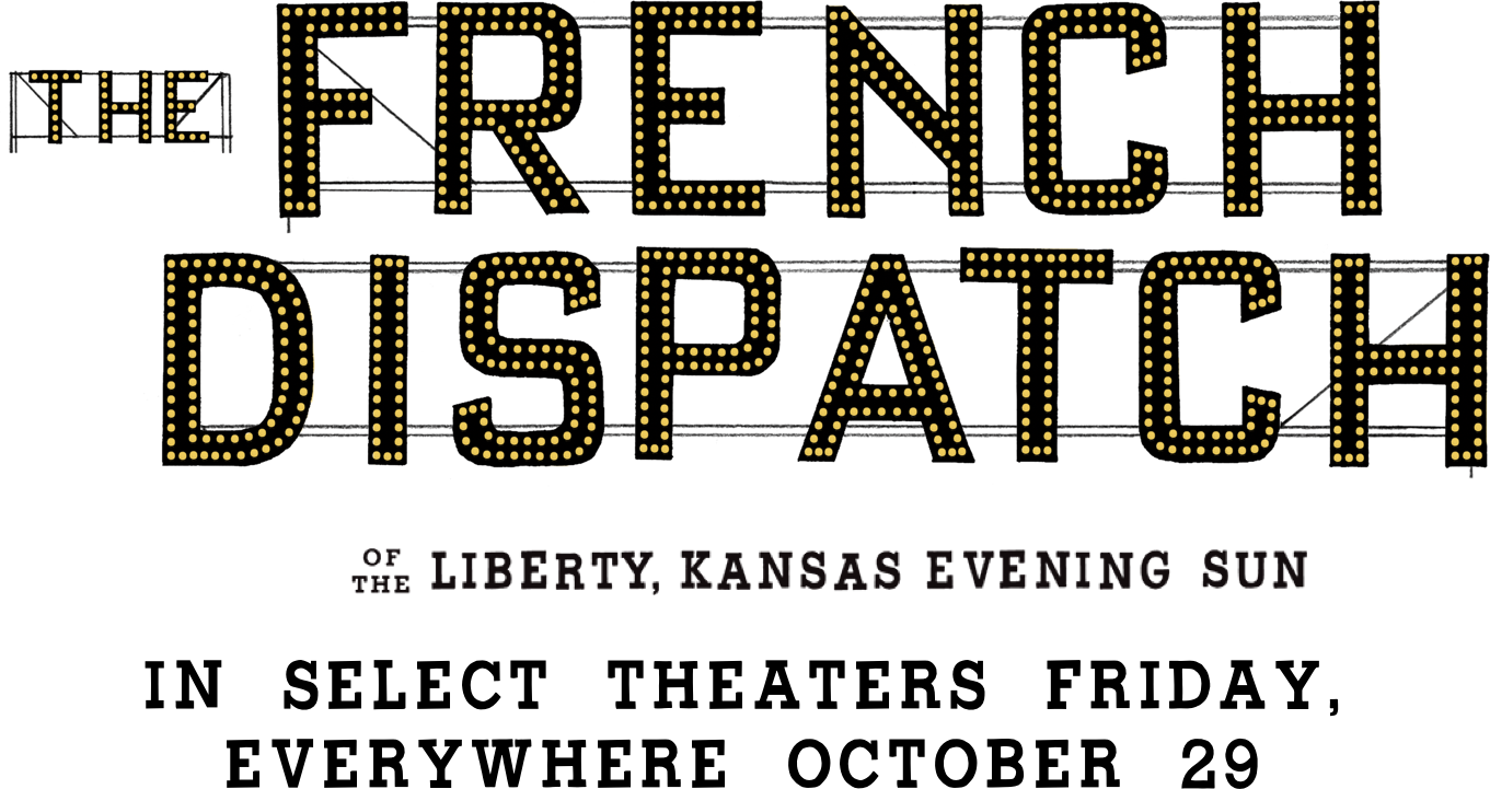 Title or logo for The French Dispatch