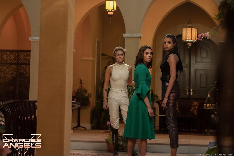 Ella Balinska, Naomi Scott, and Kristen Stewart star in Charlie's Angels.