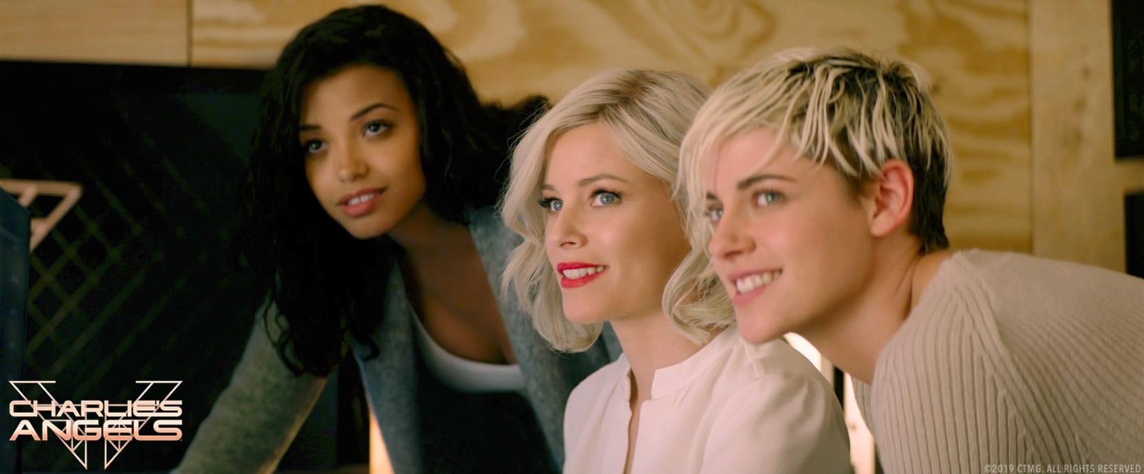 Ella Balinska, Elizabeth Banks and Kristen Stewart star in Charlie's Angels.
