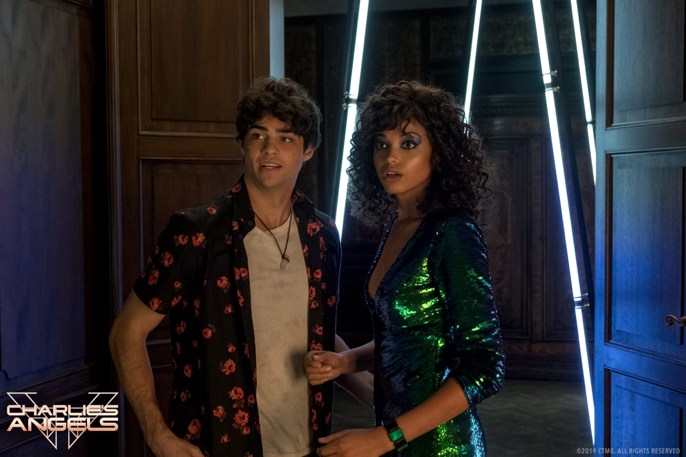 Ella Balinska and Noah Centineo star in Charlie's Angels.