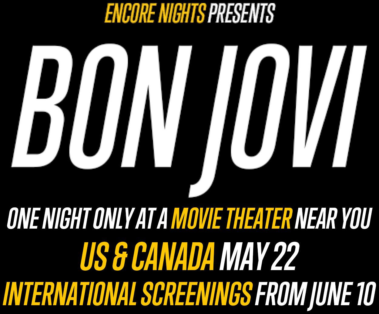Encore Nights Presents Bon Jovi: Synopsis | Trafalgar Releasing