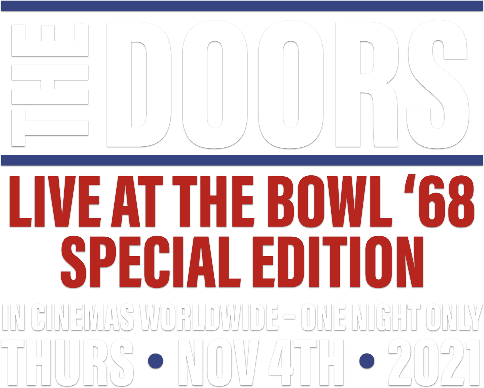 Title or logo for The Doors: Live At The Bowl '68 Special Edition