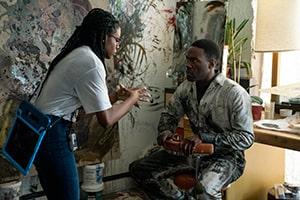 Director Nia DaCosta and Yahya Abdul-Mateen II in Candyman (2021)