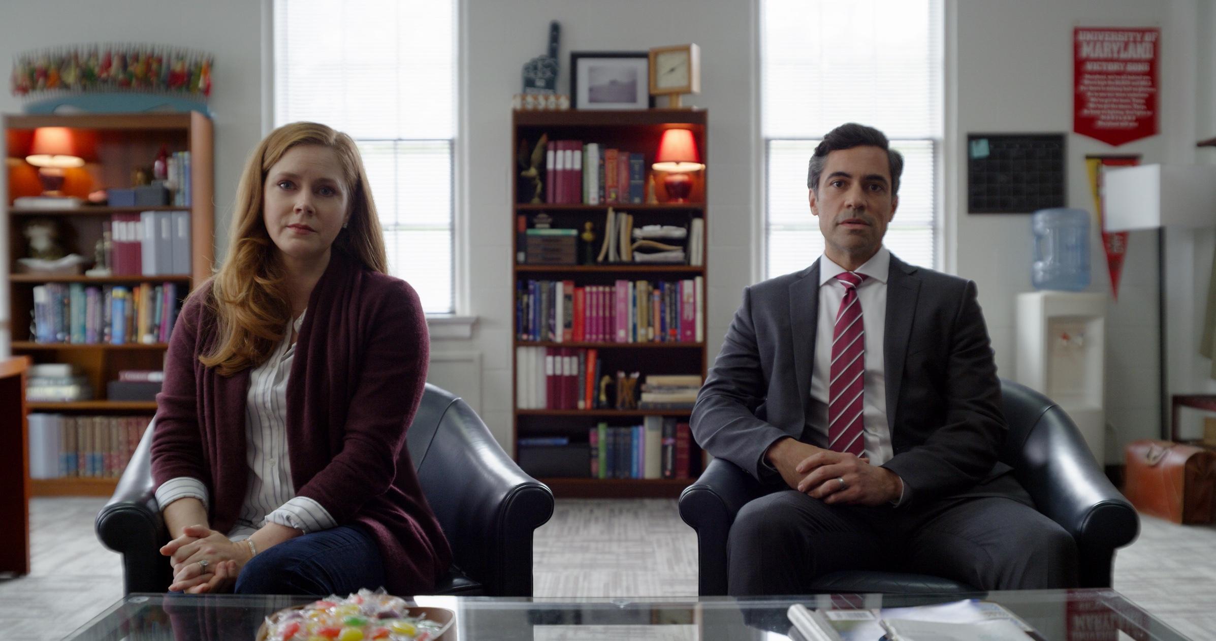 Amy Adams and Danny Pino in Dear Evan Hansen (2021 movie)